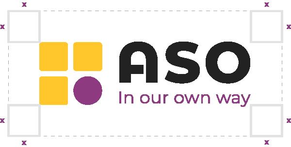 ASO horizontal logo exclusion zone