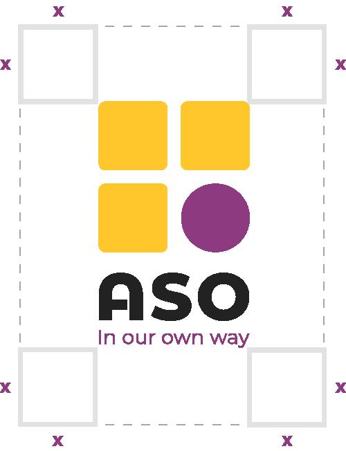 ASO vertical logo exclusion zone